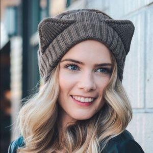 Hello FALL Kitty Headband - BROWN